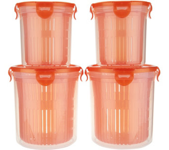 Lock & Lock 4pc Straining Container Storage Set - K43806