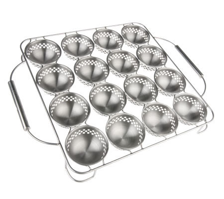 Technique Stainless Steel 16-Cavity Barbecue Appetizer Pan