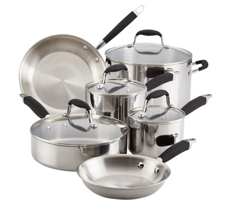 Anolon 10-Piece Tri-Ply Clad Stainless Steel Cookware Set