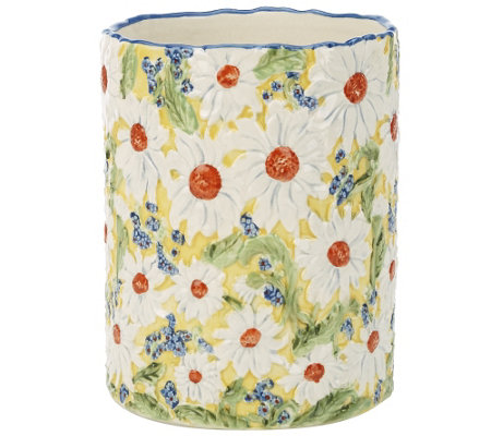 Temp-tations Figural Floral Utensil Holder