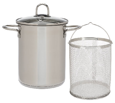 Cook's Essentials 4qt Stainless Steel Multipot with Strainer
