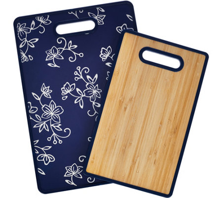 Temp-tations Set of 2 OW or FL Bamboo Cutting Boards