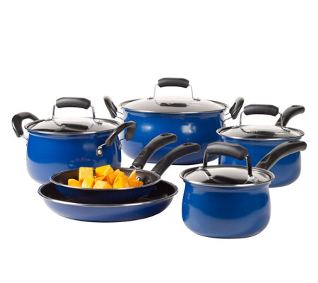 Basic Essentials 10-Piece Carbon Steel CookwareSet