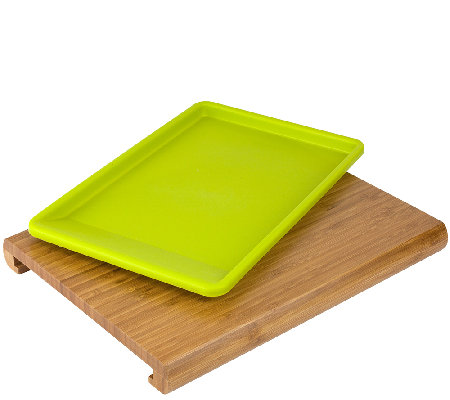 Casabella Chop 'N Prep Cutting Board with PrepTray