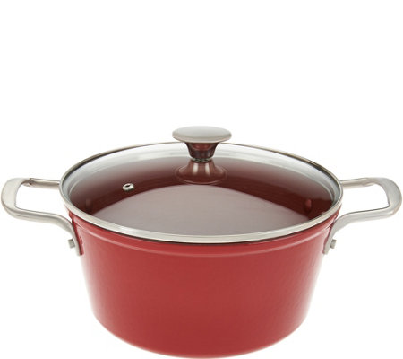 """As Is"" Cook's Essentials 5qt Nonstick Light Cast Iron Dutch Oven"