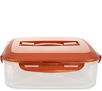 Lock & Lock Appetizer Tray with Color Handle Lid - K42708