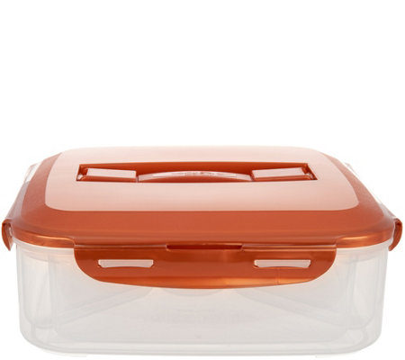 Lock & Lock Appetizer Tray with Color Handle Lid