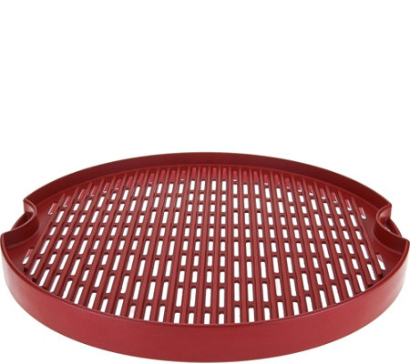 "Cook's Essentials 15"" Reversible Cast Aluminum BBQ Grill Pan"