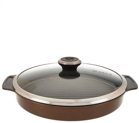 Maker Homeware Round Ceramic Steam Grill Pan
