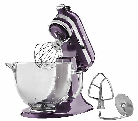 Kitchenaid Artisan Design Collection 5qt 325 Watt Stand Mixer Qvc Com