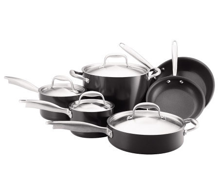 Anolon Titanium Hard-Anodized Nonstick 10-PieceCookware Set