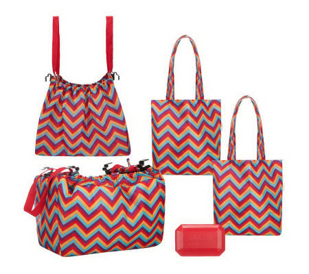 Sachi Shop, Pack & Go Set with Market Totes and Cool Gem