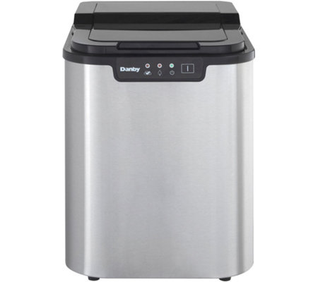 Danby 25-lb Portable Ice Maker - Stainless Steel