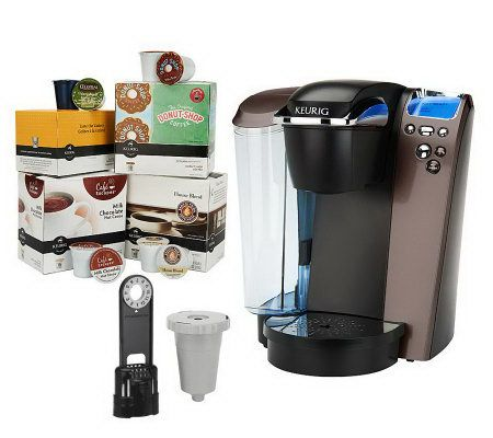 Keurig Platinum Plus Coffee Maker w/ 64 K-Cups, Filter & My K-Cup - Page 1 QVC.com