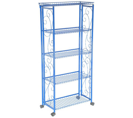 Cook's Essentials 5-Tier Deluxe Folding Storage Rack