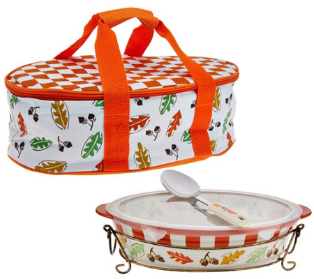 Temp-tations Old World 3qt. Pack n'Go Baker with Accessories