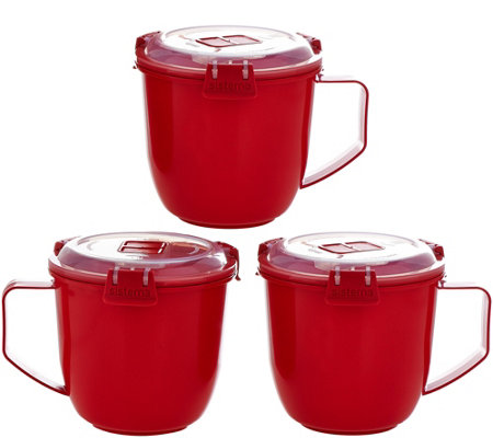 Sistema Set of 3 Jumbo Microwave Mugs
