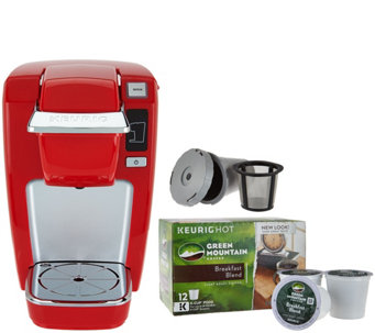 Keurig K15 Personal Coffee Maker w/ My K-Cup & 12 K-Cups - K44610