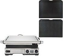 Breville Stainless Steel 1800W Smart Grill with 2 Extra Plates - K45310