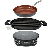 "NuWave Induction Cooktop Flex w/ Cast Iron Grill & 9"" Fry Pan - K45910"