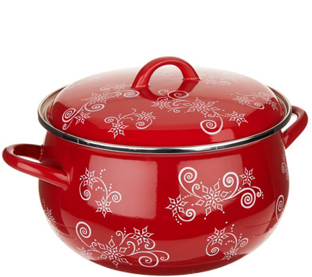 Temp-tations Floral Lace 8qt Belly Stockpot