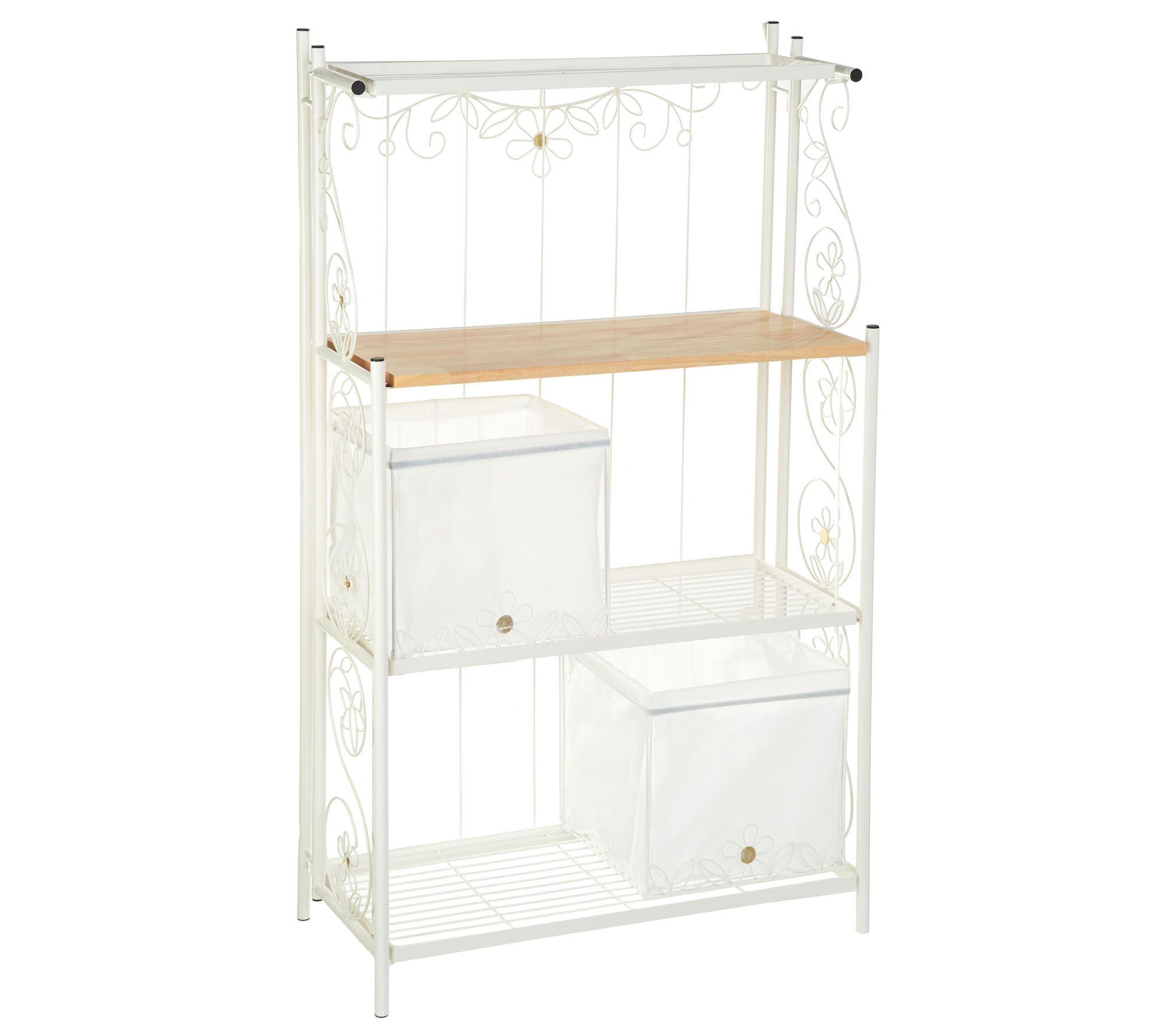 Temptations Collapsible Bakers Rack with Baskets Page 1 QVCcom
