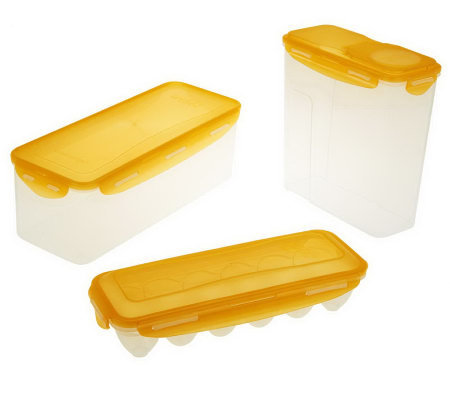 Lock Amp Lock Bread Cereal And Egg Storage Set Page 1