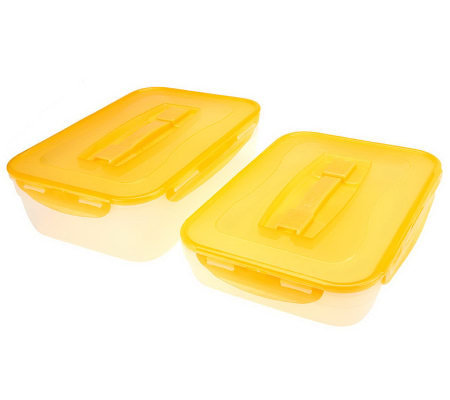 "Lock & Lock Set of 2 9"" x 13"" Storage Containers"