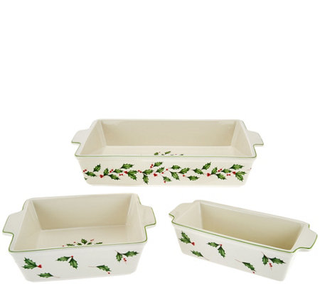 Lenox 3-pc Porcelain Holiday Bake Set
