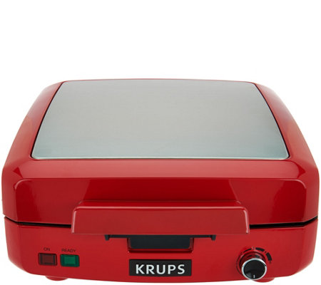 Krups 4 Slice Belgian Waffle w/ Removable Nonstick Plates