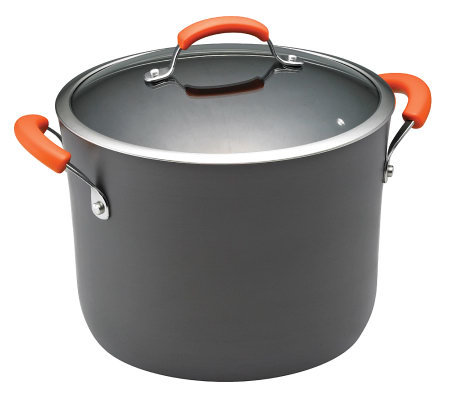 Rachael Ray Hard-Anodized II 10-Qt Covered Stockpot