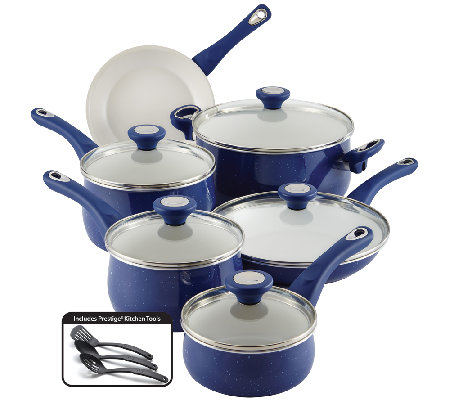 Farberware New Traditions Speckled 14-Piece Cookware Set