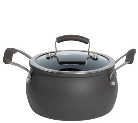 Epicurious Hard Anodized 3-qt Covered Soup Pot