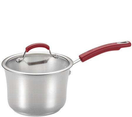 Rachael Ray 3.5-Quart Stainless Steel Covered Saucepan