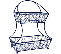 Gourmet Basics by Mikasa Loop & Lattice 2-Tier Flatback Basket - K45213
