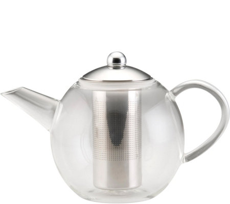BonJour 34-oz Round Teapot with Shut-Off Infuser