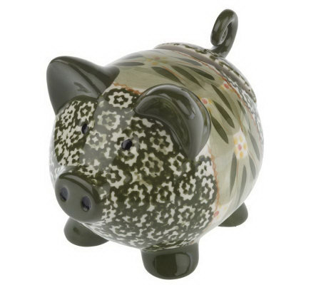 Temp-tations Old World Figural Pig Salt/Spice Holder