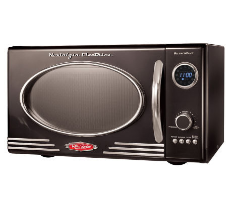 Nostalgia Electrics Retro Series 0.9 CuFt BlackMicrowave Oven
