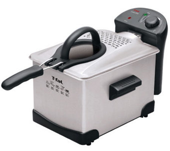 T-Fal Easy Pro Enamel 3-Liter Deep Fryer - Stainless Steel - K299714