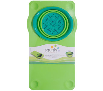 Squish Over-the-Sink Cutting Board with Colander - K303614