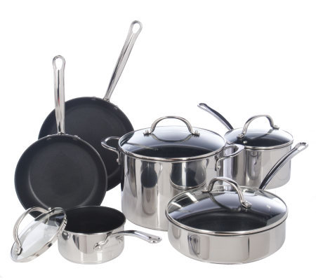 Farberware Millennium Stainless 10-Piece Nonstick Cookware ...