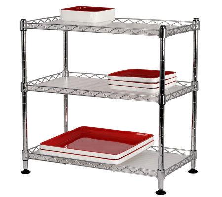 Tabletops Gallery Stax Living 3 Shelf Rectangular Rack