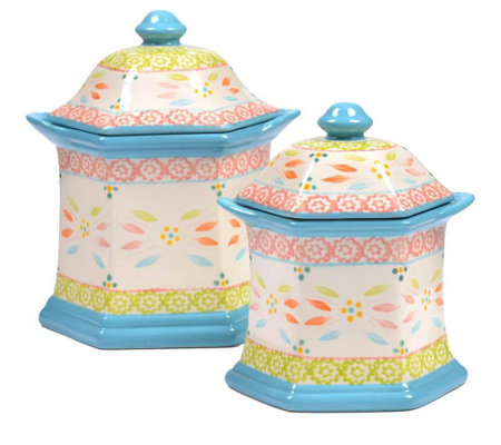 Temp-tations Old World Set of 2 Canisters
