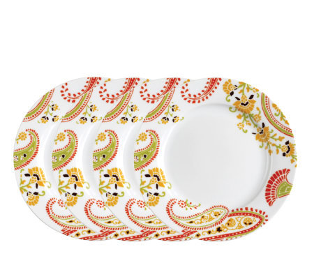 Rachael Ray Paisley Salad Plates - 4-Pack