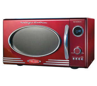 Nostalgia Electrics Retro Series 0.9 CuFt Red Microwave Oven - K299516