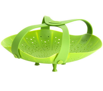 Trudeau Smart Silicone Vegetable Steamer With Handles - K300316