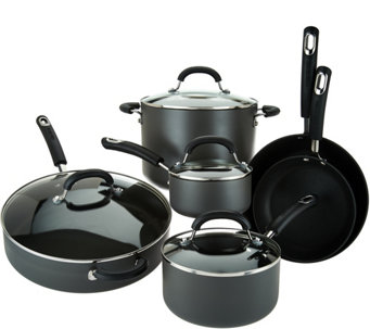 Circulon 10-Piece Hard Anodized Dishwasher Safe Cookware Set - K43416