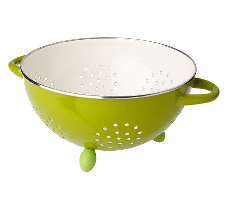 Rachael Ray Enamel on Steel 5 qt. Colander with Oval Feet
