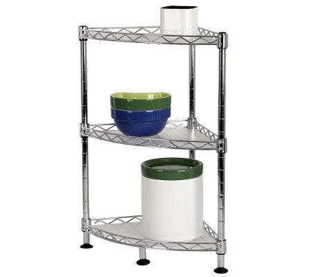 Tabletops Gallery Stax Living 3 Shelf Triangular Rack