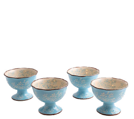 Temp-tations Set of 4 Floral Lace Parfait Cups